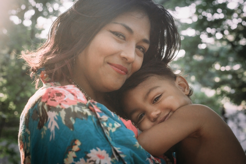 Motherhood and Maternity Photography, mother and son looking at the camera