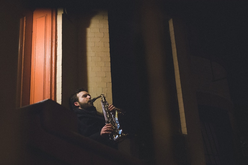 artist photography, man playing a saxophone